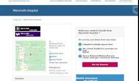 Mammoth Hospital | MedicalRecords.com