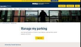 Manage My Parking - Northern Arizona University