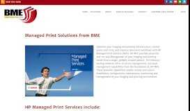 Managed Print Services | BME Company