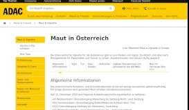 Maut in Österreich - ADAC