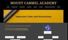 MCA and HISD login - Mount Carmel Academy