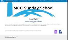 MCC Sunday School