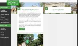 McDaniel | Portal - McDaniel College