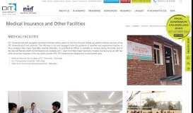 Medical Insurance and Other Facilities – DIT University