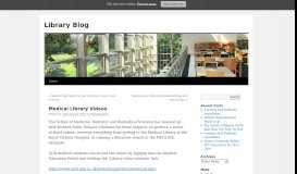 Medical Library Videos   Library Blog - QUB Blogs