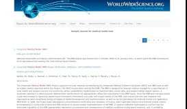 medical model imm: Topics by WorldWideScience.org