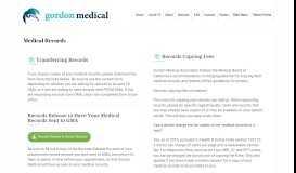 Medical Records – Gordon Medical Associates