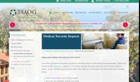Medical Records Request   The San Antonio Orthopaedic Group