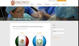 MEMBER PORTAL | PRONTO International