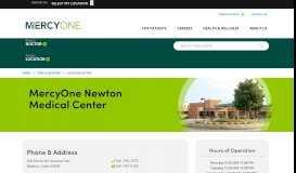 MercyOne Newton Medical Center 204 N. 4th Ave E., Newton, Iowa (IA ...