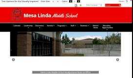 Mesa Linda Middle School - Home