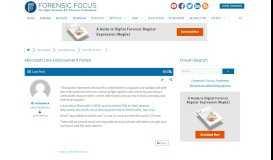 Microsoft Law Enforcement Portal - Digital Forensics Forums ...