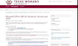 Microsoft Office 365 for Students, Faculty and Staff - request online