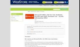 Microsoft Office 365 for UIC Students, Faculty and Staff, Personal Use ...