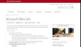 Microsoft Office 365   Information Technology   University of Arizona