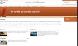 Midwest Education Region - The Department of Education