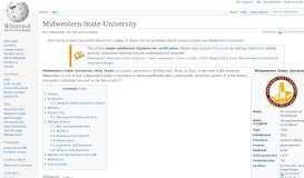 Midwestern State University - Wikipedia