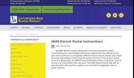 MMS Parent Portal | Parents & Community