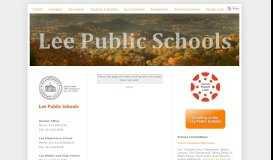 MMS Parent Student Portal - Lee Public Schools