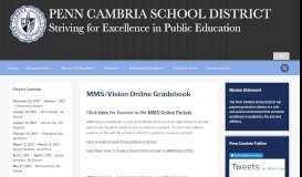 MMS/Vision Online Gradebook – Penn Cambria School District