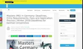 MS in Germany: Entry Requirements, 2018 Deadlines & Fees | - Stoodnt