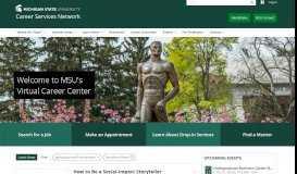 MSU Career Services Network - Michigan State University