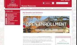 My Benefits and Wellness | Human Resources - Miami University