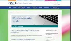 My CMH Health Portal   Community Memorial Hospital