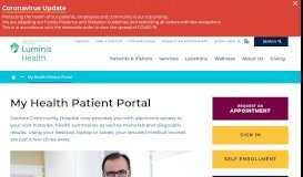 My Health Patient Portal   Doctors Community Hospital