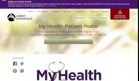 My Health Patient Portal | Summit Orthopedics