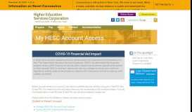 My HESC Account Access - NYS Higher Education Services Corporation