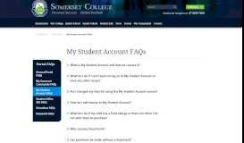 My Student Account FAQs | Portals | Somerset College | Gold Coast