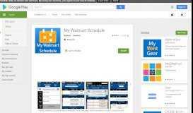 My Walmart Schedule - Apps on Google Play