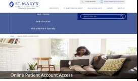 MyHealth Patient Portal - St. Mary's Hospital and Health Care System