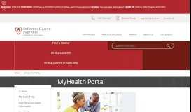 MyHealth - St. Peter's Health Partners (for hospital & lab results)