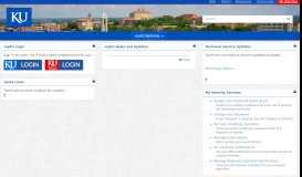 myKU Portal: myKU Welcome - The University of Kansas