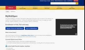 MyWellSpan Patient Portal Log-in Page - WellSpan Health