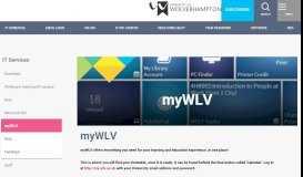 myWLV - University of Wolverhampton