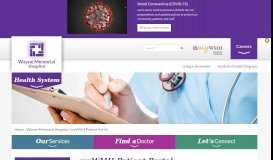myWMH Patient Portal   View Your Medical information   Wayne ...