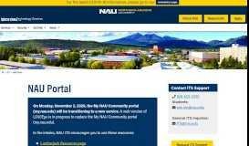 NAU Portal | Information Technology Services