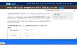 NCDC Consultant Recruitment 2019   Attend Walkin For 13 Openings
