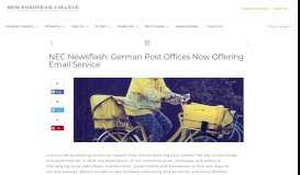 NEC Newsflash: German Post Offices Now Offering Email ...
