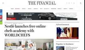 Nestlé launches free online chefs academy with WORLDCHEFS