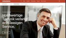 Neuanmeldung Service-Portal Presse Startseite - Grundig
