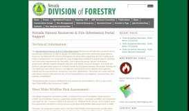 Nevada Natural Resources & Fire Information Portal Support | Nevada ...