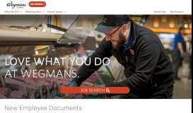 New Employee Documents - Wegmans Job