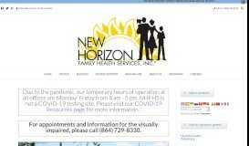 New Horizon Family Health Services