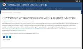 New Microsoft law enforcement portal will help cops fight cybercrime ...