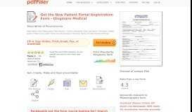 New Patient Portal Registration Form - Dingmans Medical - PDFfiller
