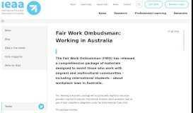 News - International Education Association of Australia (IEAA)